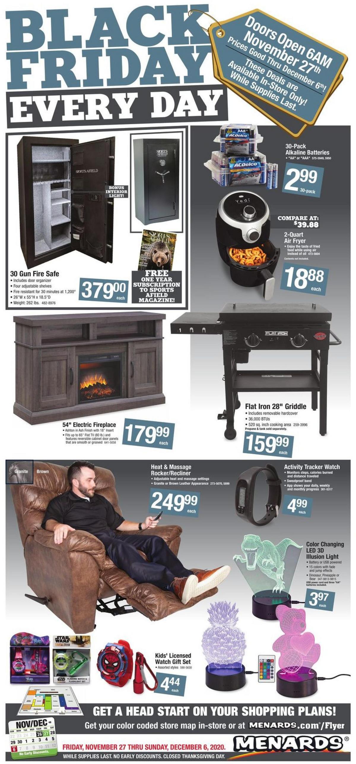 Menards Black Friday Sale Weekly Ad from November 27