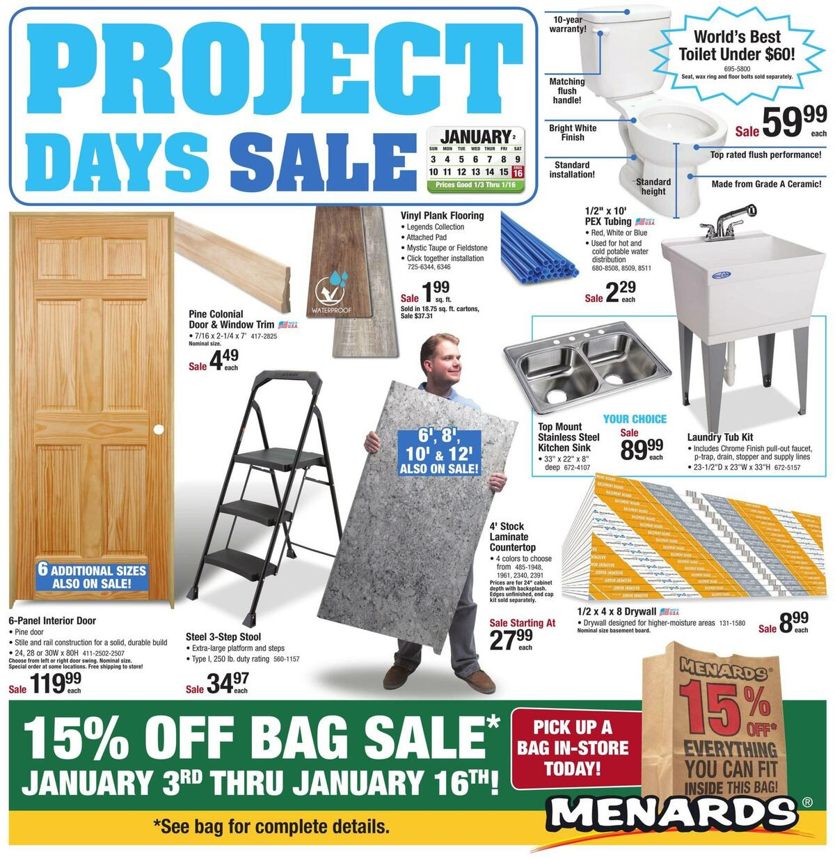 Menards Weekly Ad from January 3