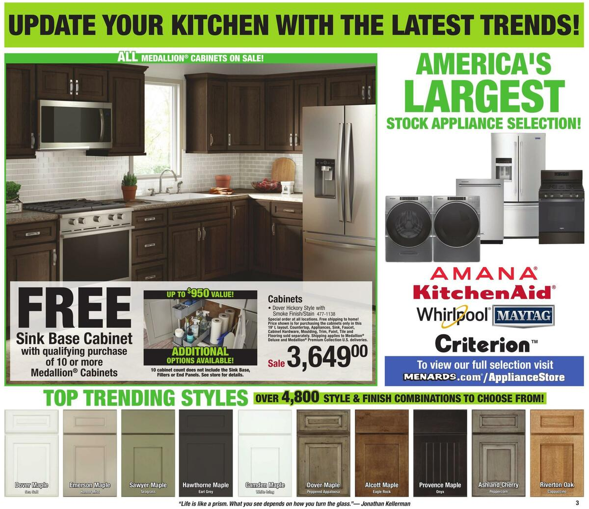 Menards Weekly Ad from January 10