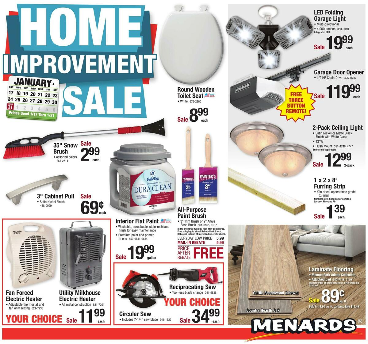 Menards Weekly Ad from January 17