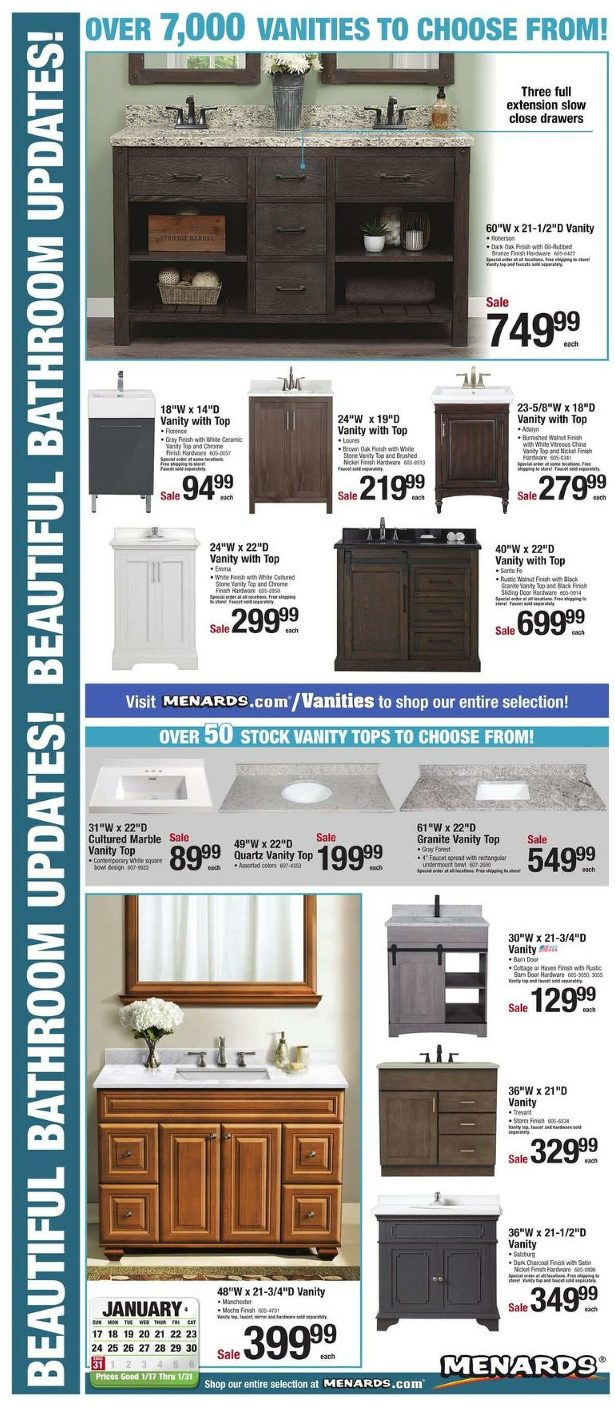 Menards Bath Weekly Ad from January 17