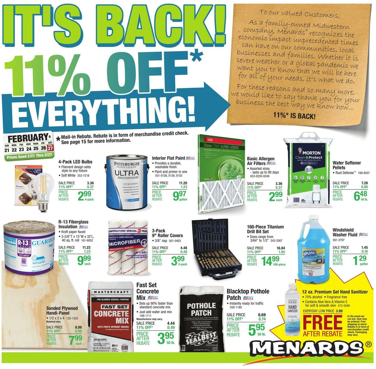 Menards Weekly Ad from February 21