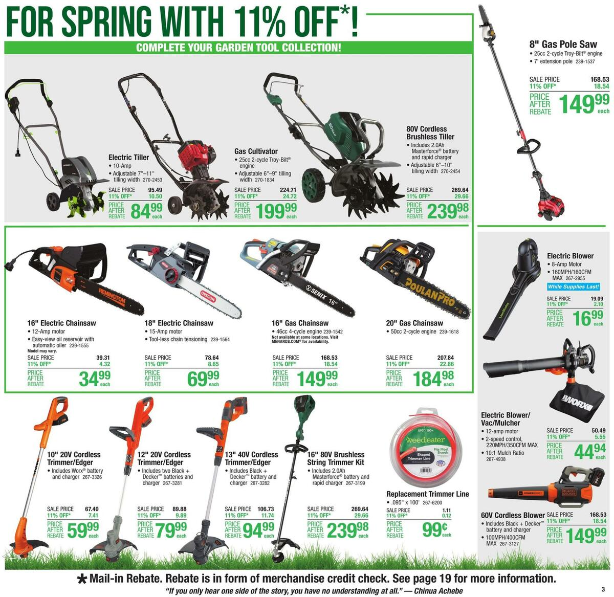 Menards Weekly Ad from March 31