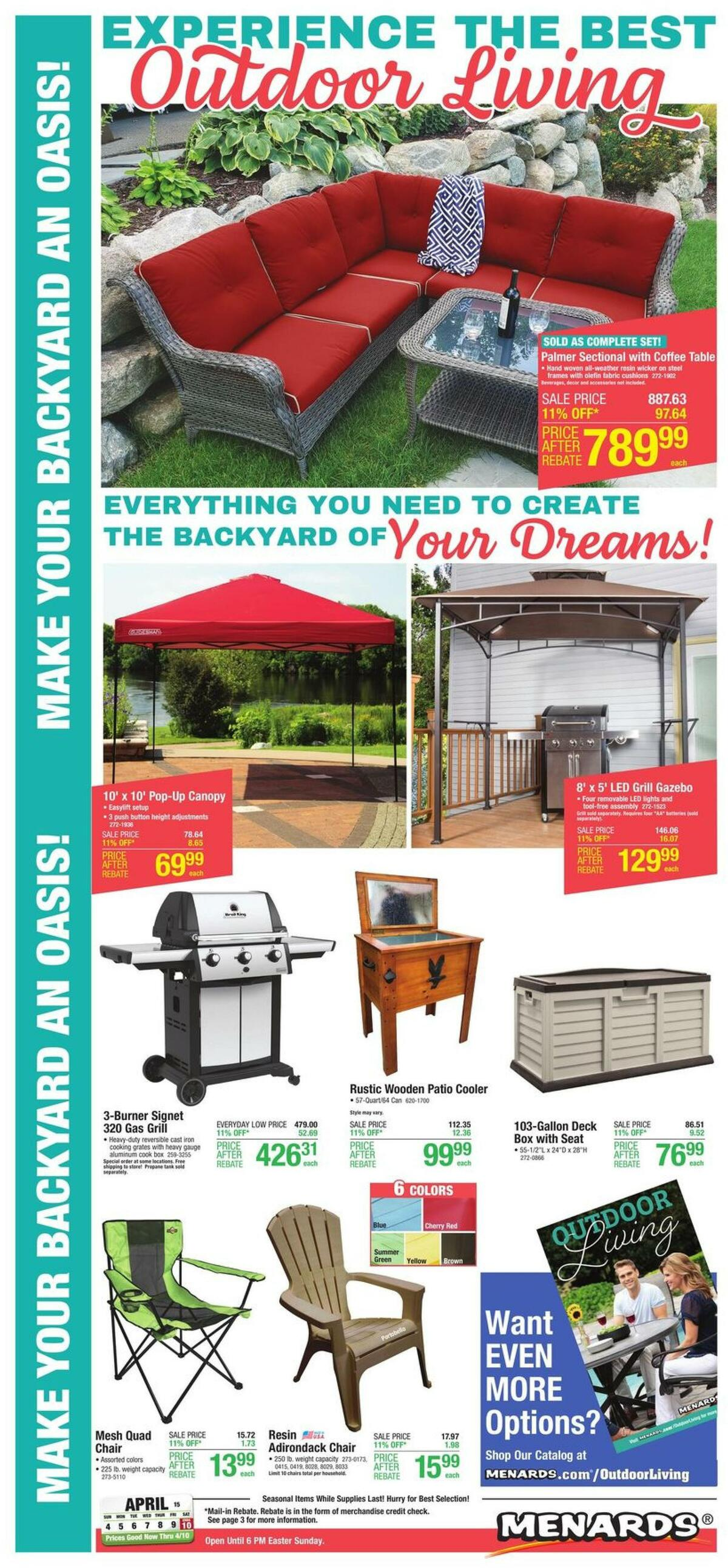Menards Outdoor Living Weekly Ad from March 31