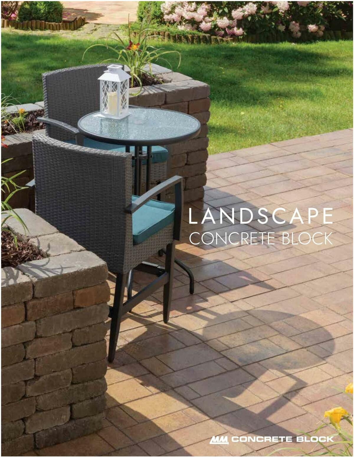 Menards Landscape Concrete Block Catalog Weekly Ad from March 15