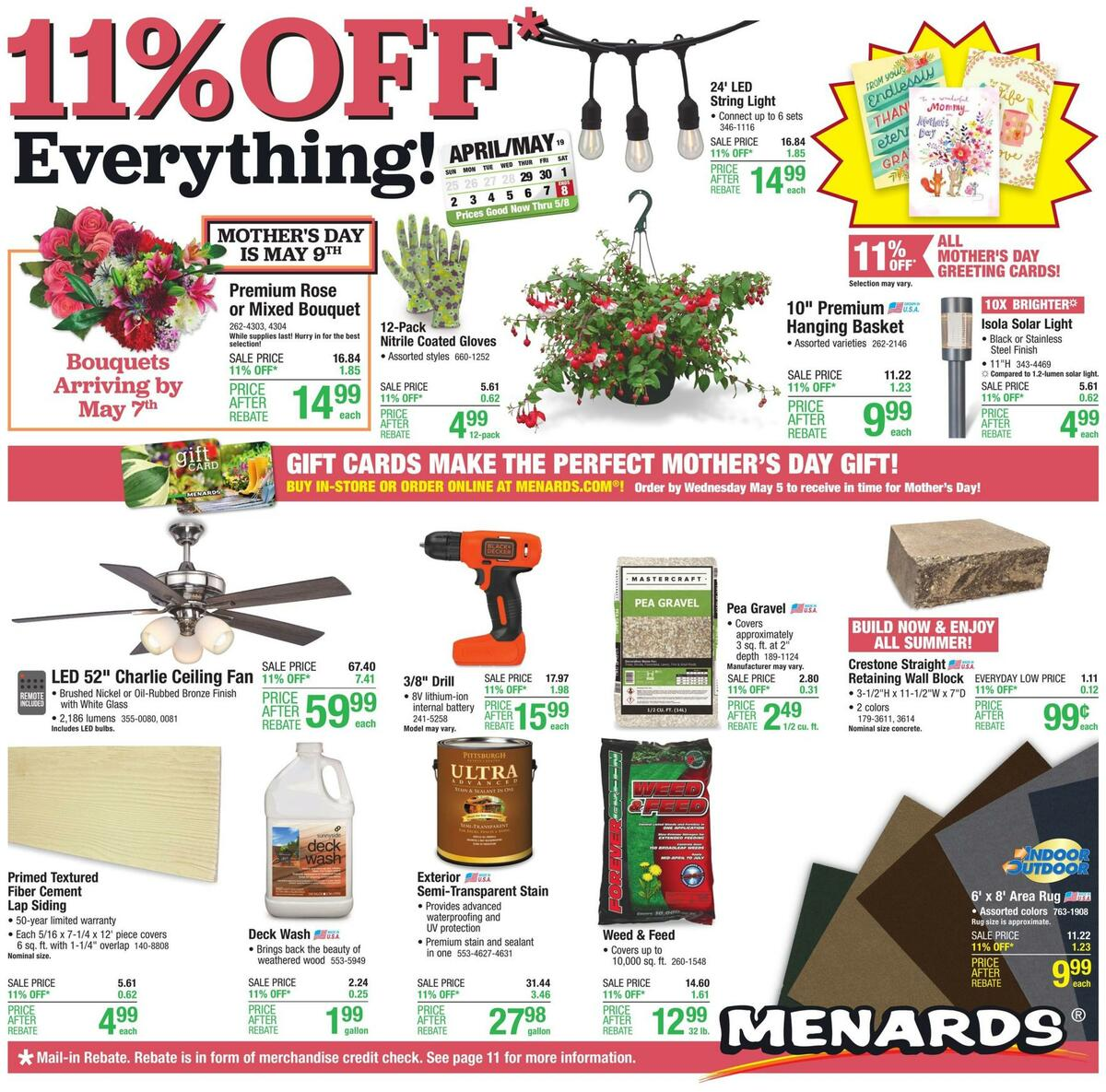 Menards Weekly Ad from April 29