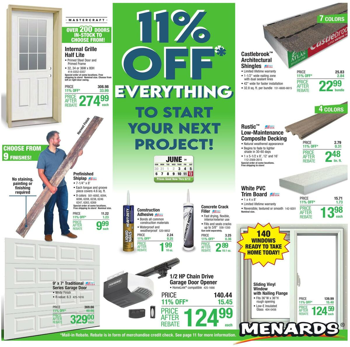 Menards Weekly Ad from June 3