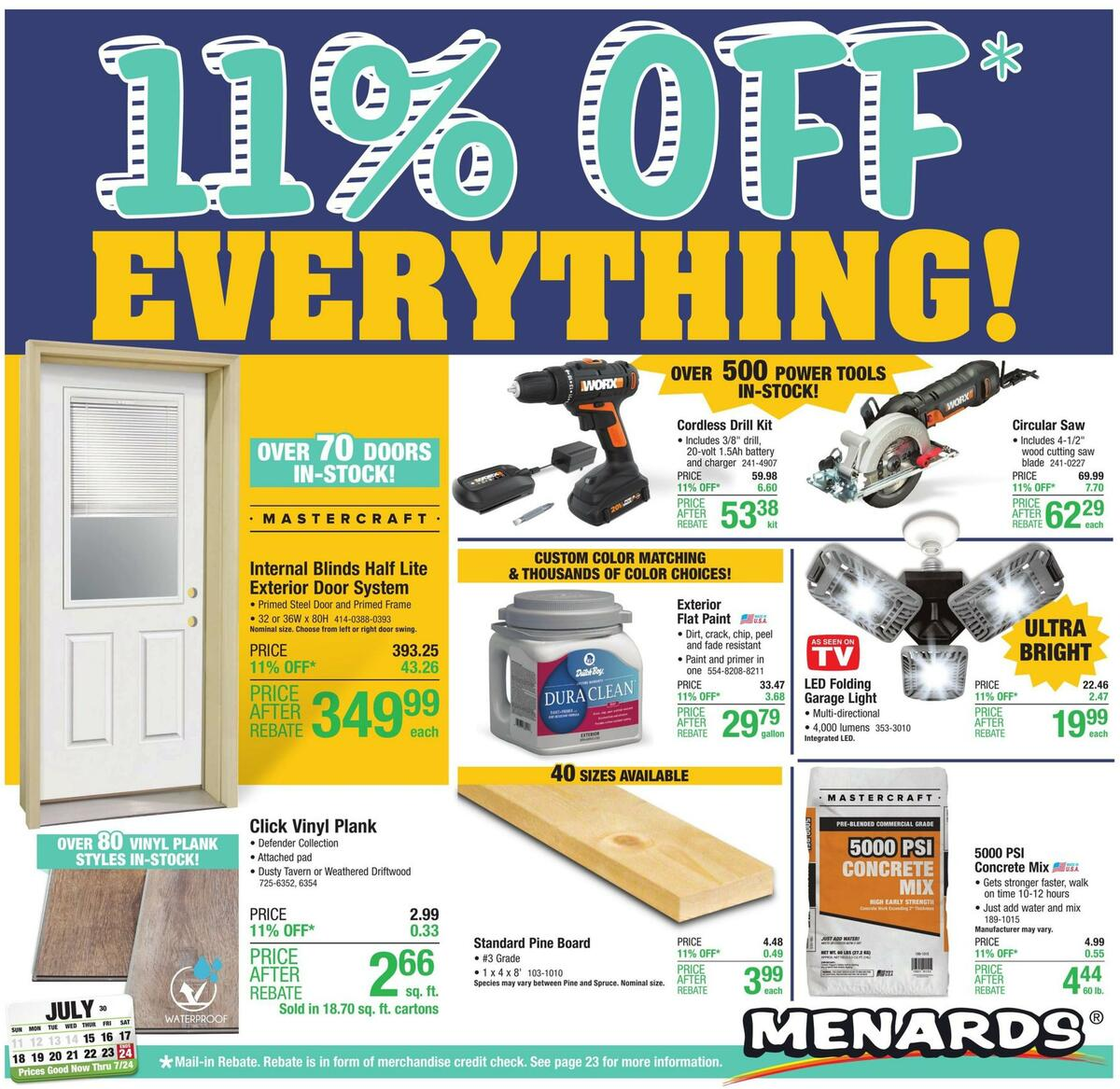 Menards Weekly Ad from July 15