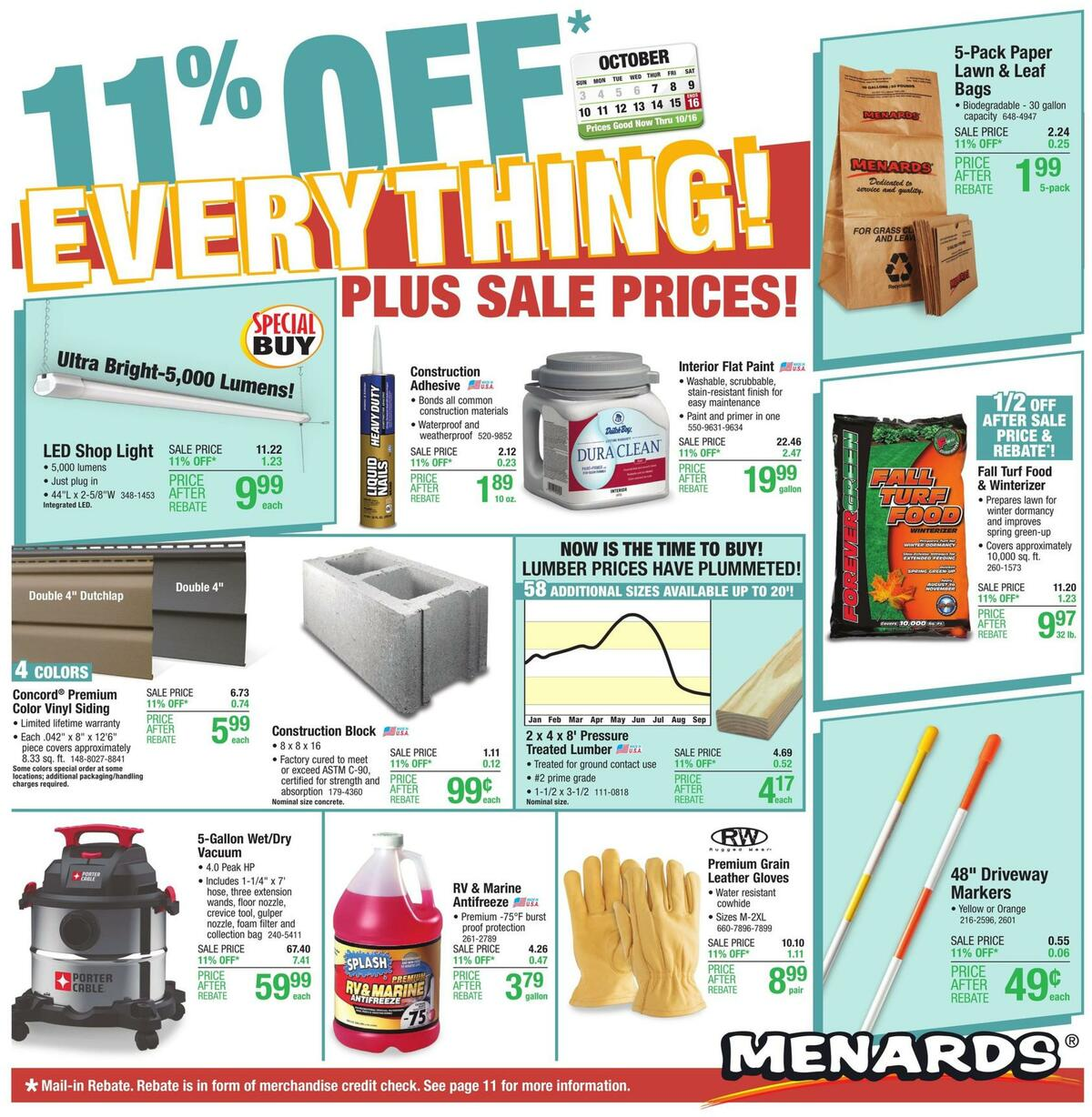 Menards Weekly Ad from October 7