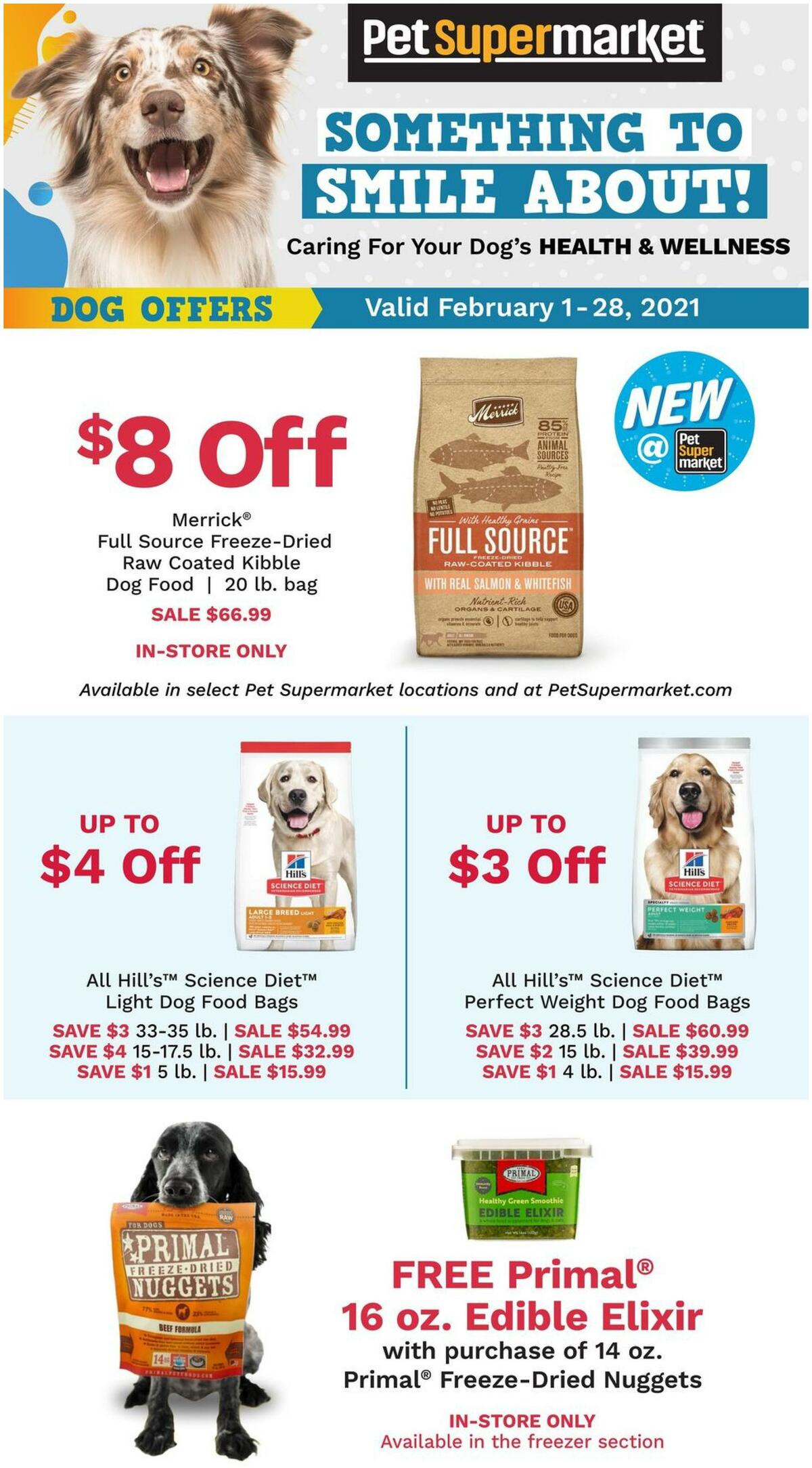 Pet Supermarket Weekly Ad from February 1