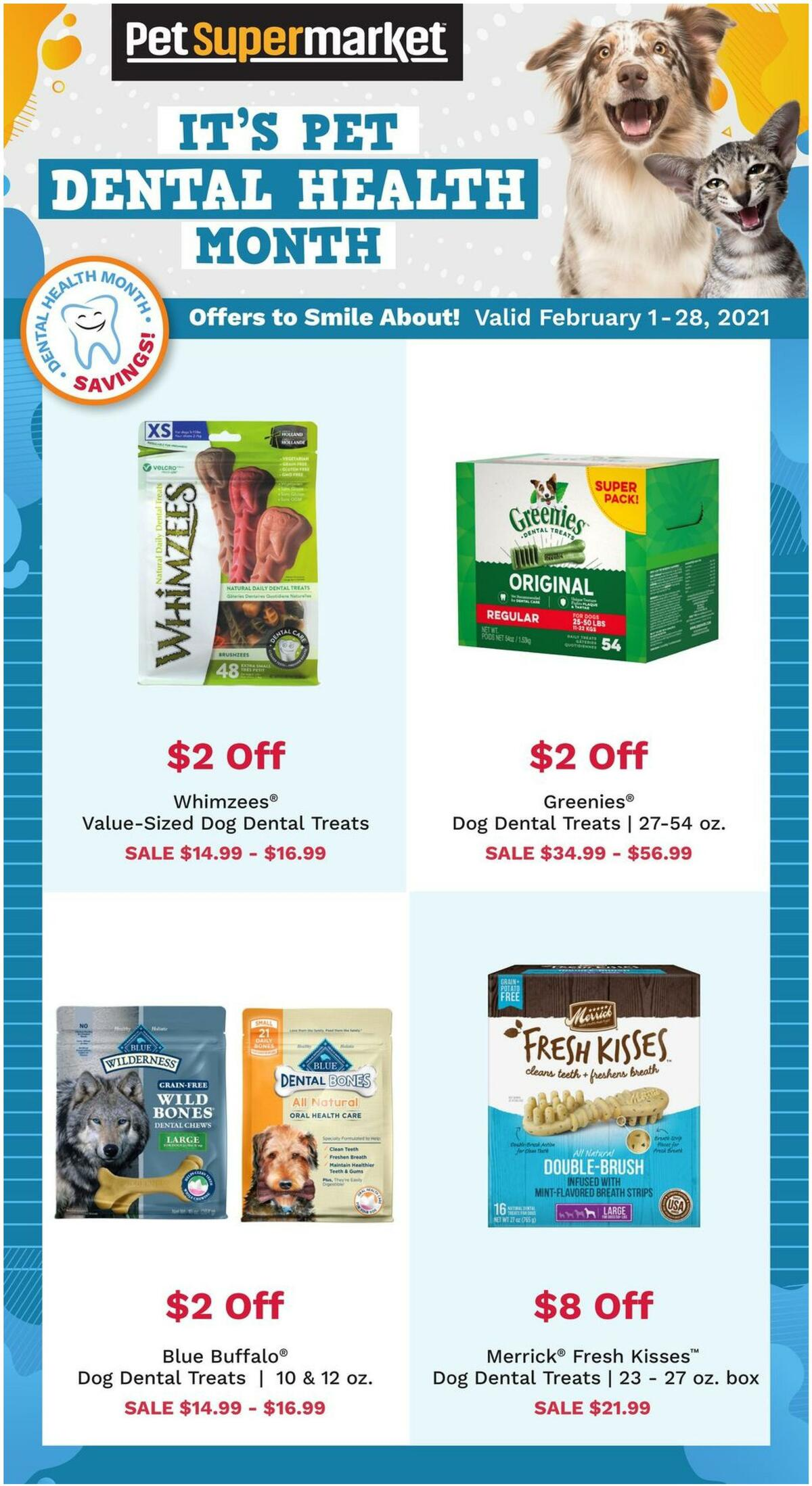 Pet Supermarket Dental Month Weekly Ad from February 1