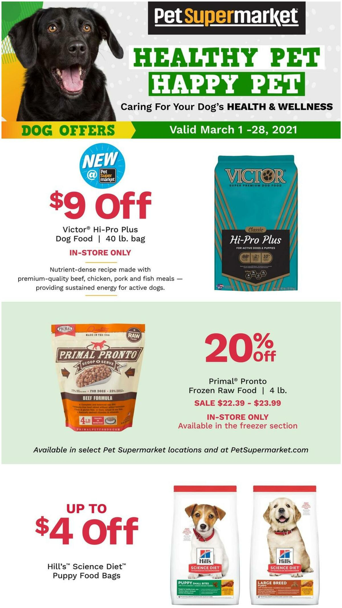 Pet Supermarket Weekly Ad from March 1