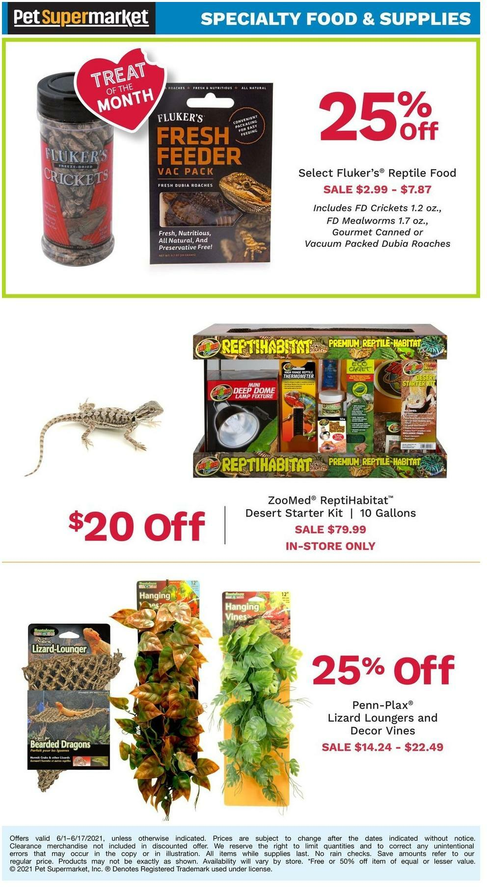 Pet Supermarket In-store Ads Weekly Ad from June 1