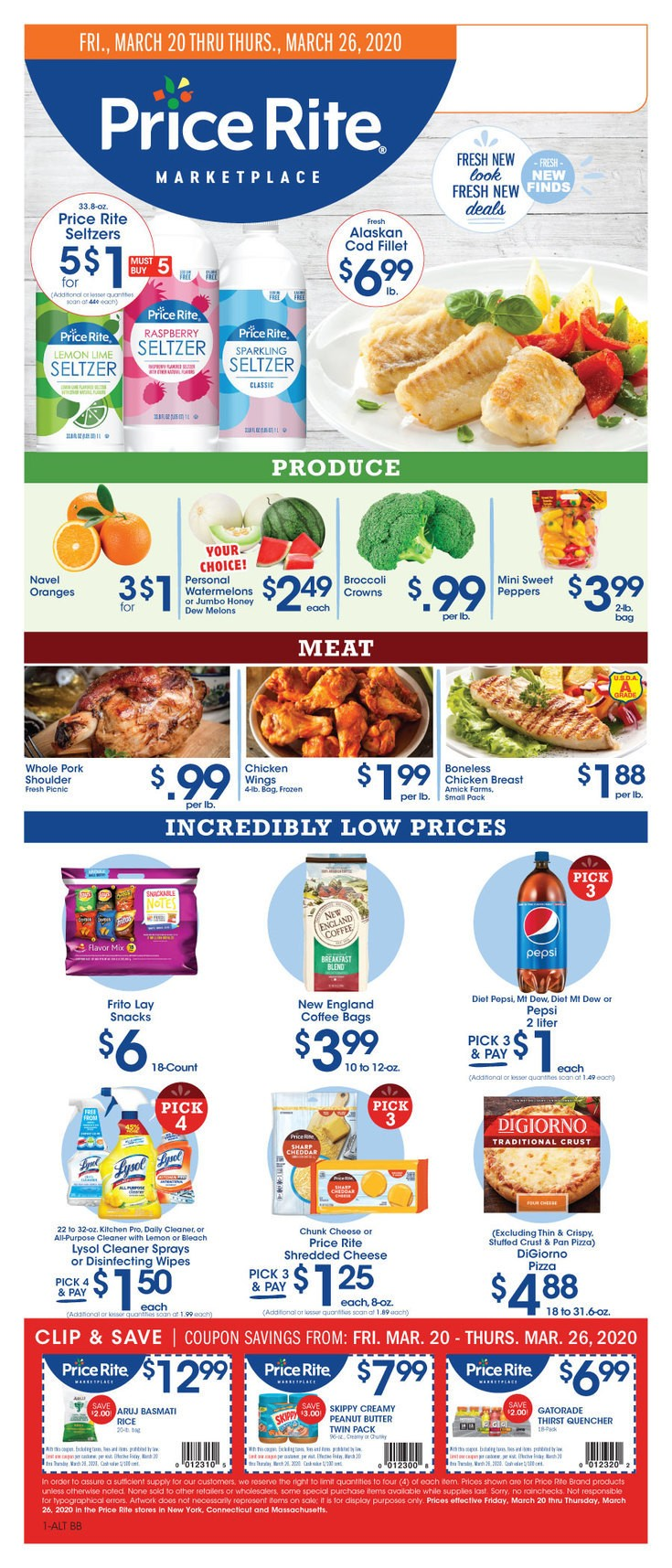 Price Rite Weekly Ad from March 20