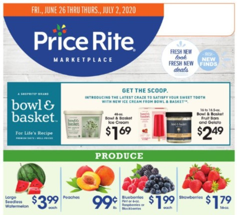 Price Rite Weekly Ad from June 26