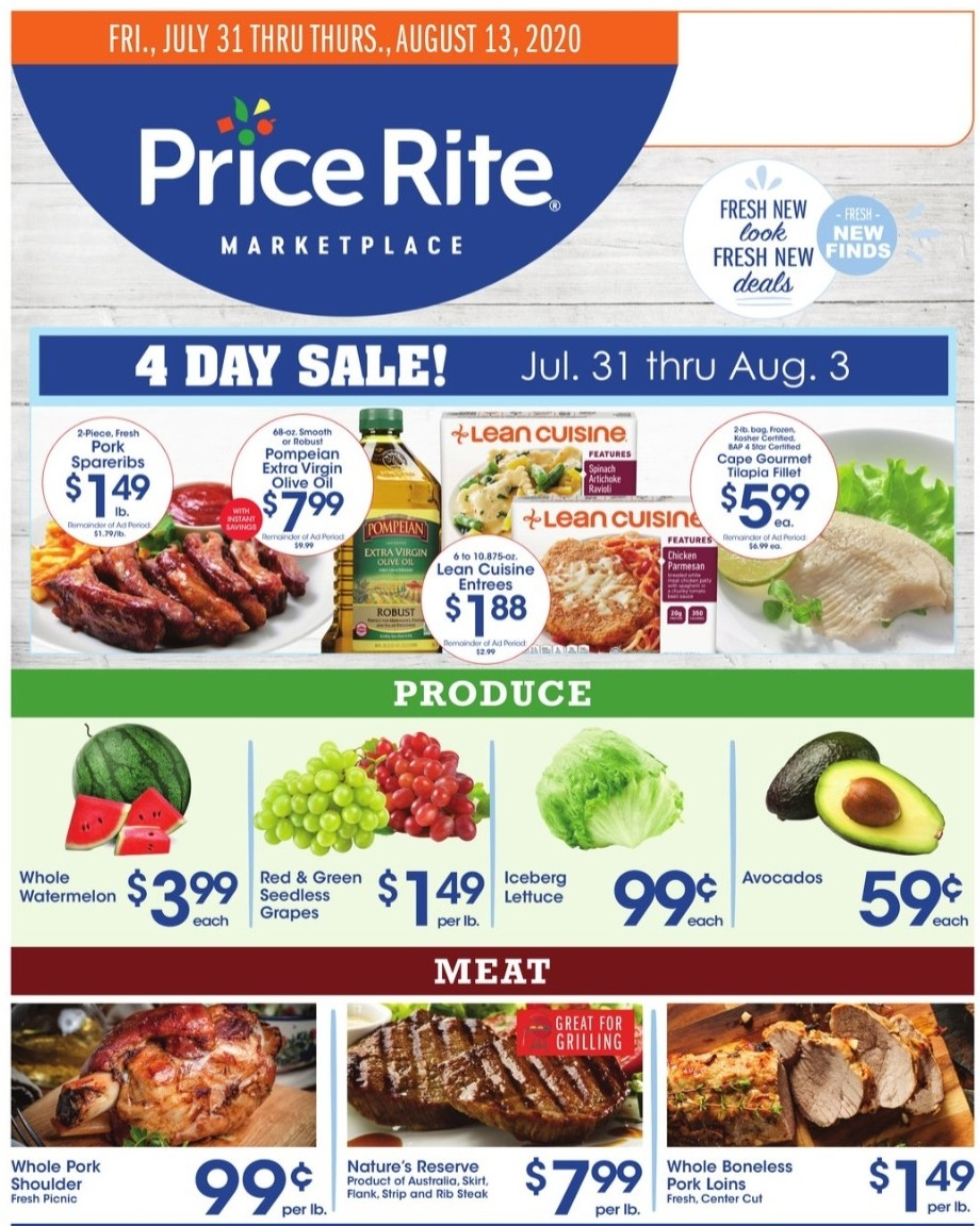 Price Rite Weekly Ad from July 31