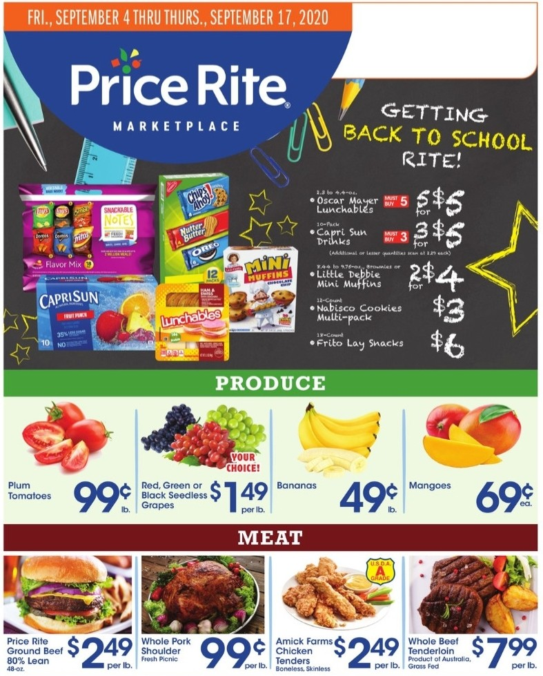 Price Rite Weekly Ad from September 4
