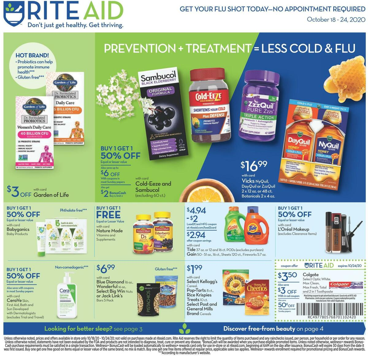 Rite Aid Weekly Ad from October 18