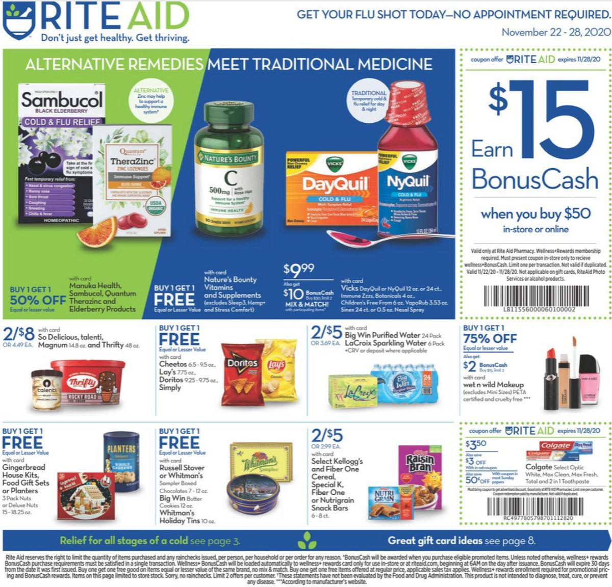 Rite Aid Weekly Ad from November 22