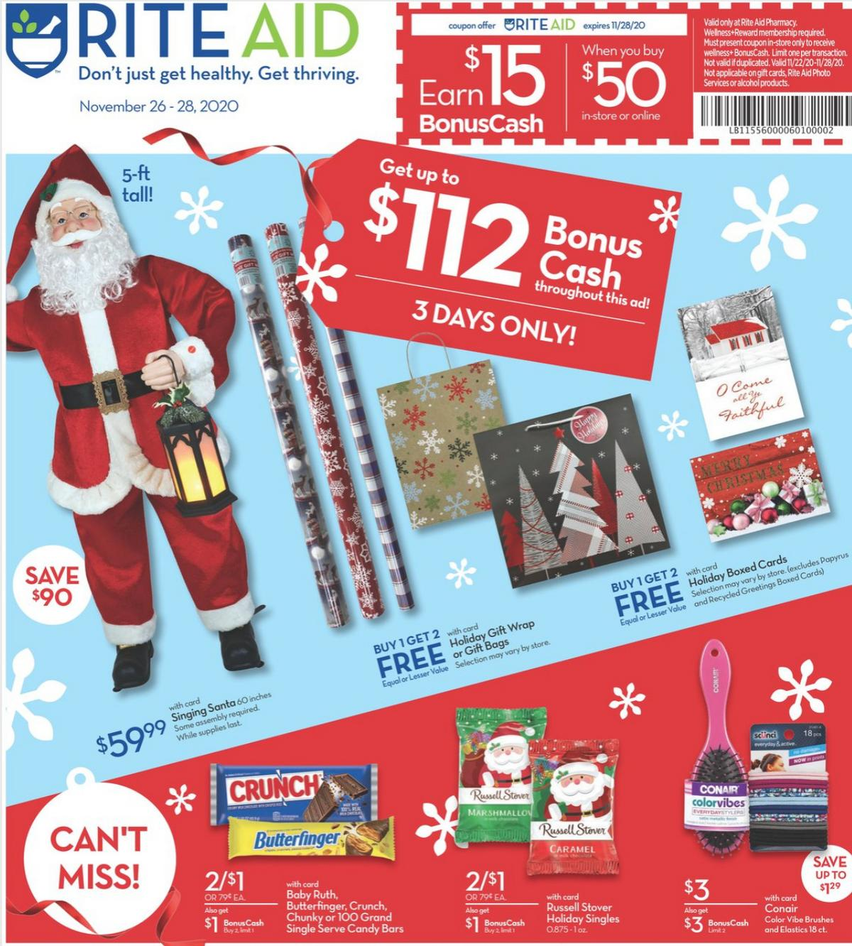 Rite Aid Additional Deals Weekly Ad from November 26