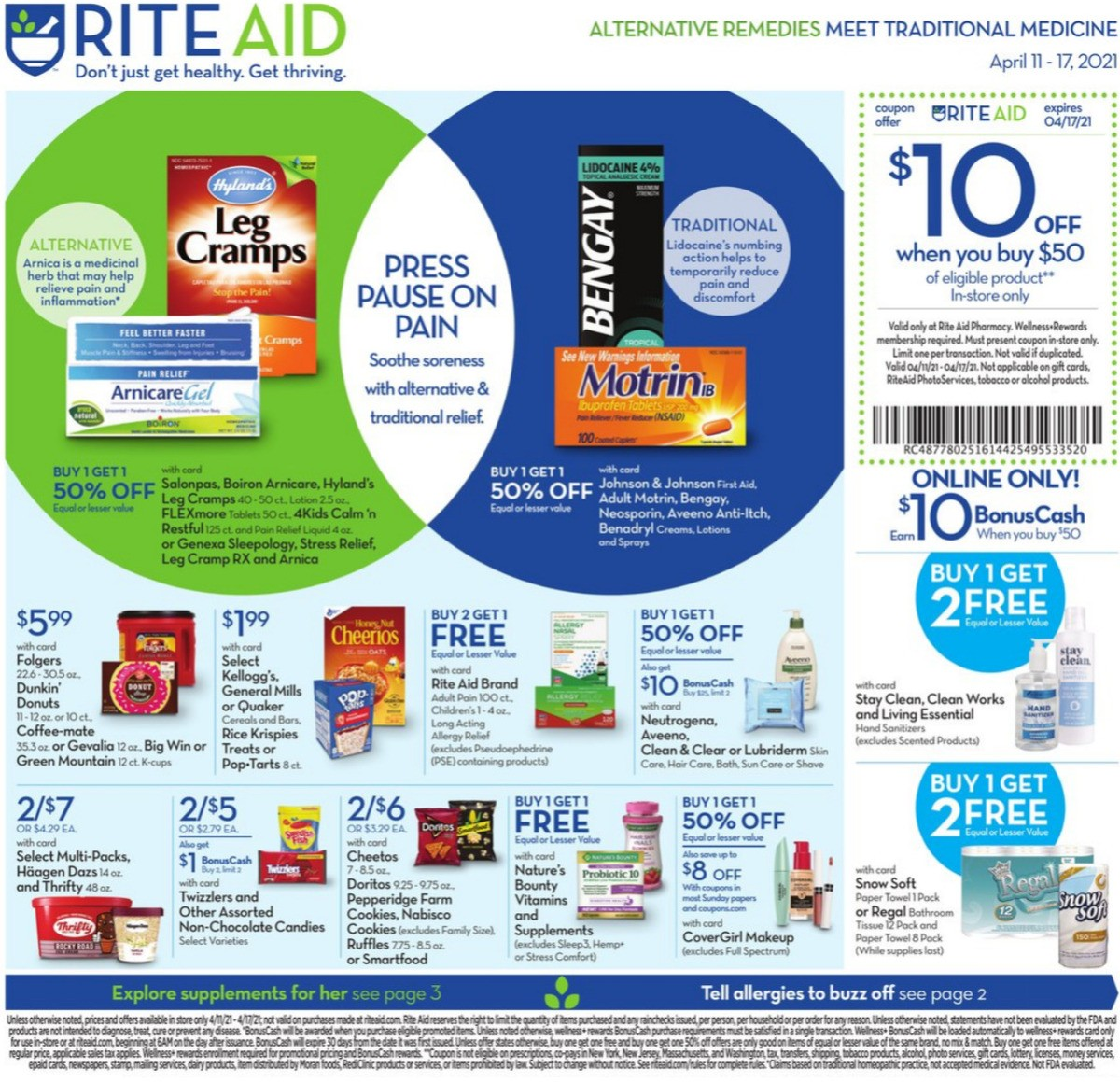 Rite Aid Weekly Ad from April 11