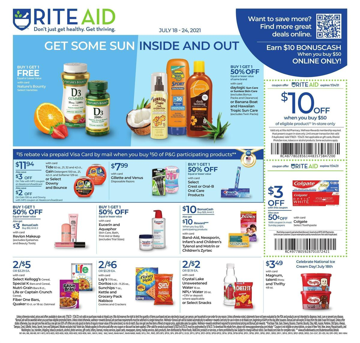 Rite Aid Weekly Ad from July 18