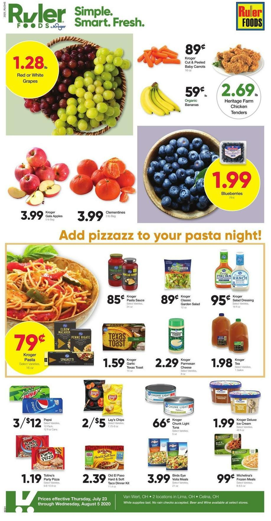 Ruler Foods Weekly Ad from July 23