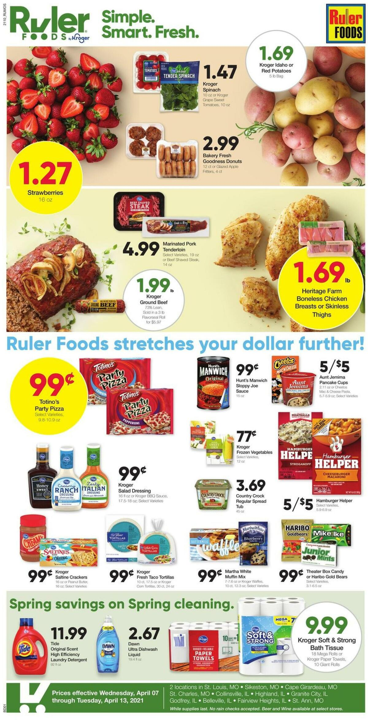 Ruler Foods Weekly Ad from April 7