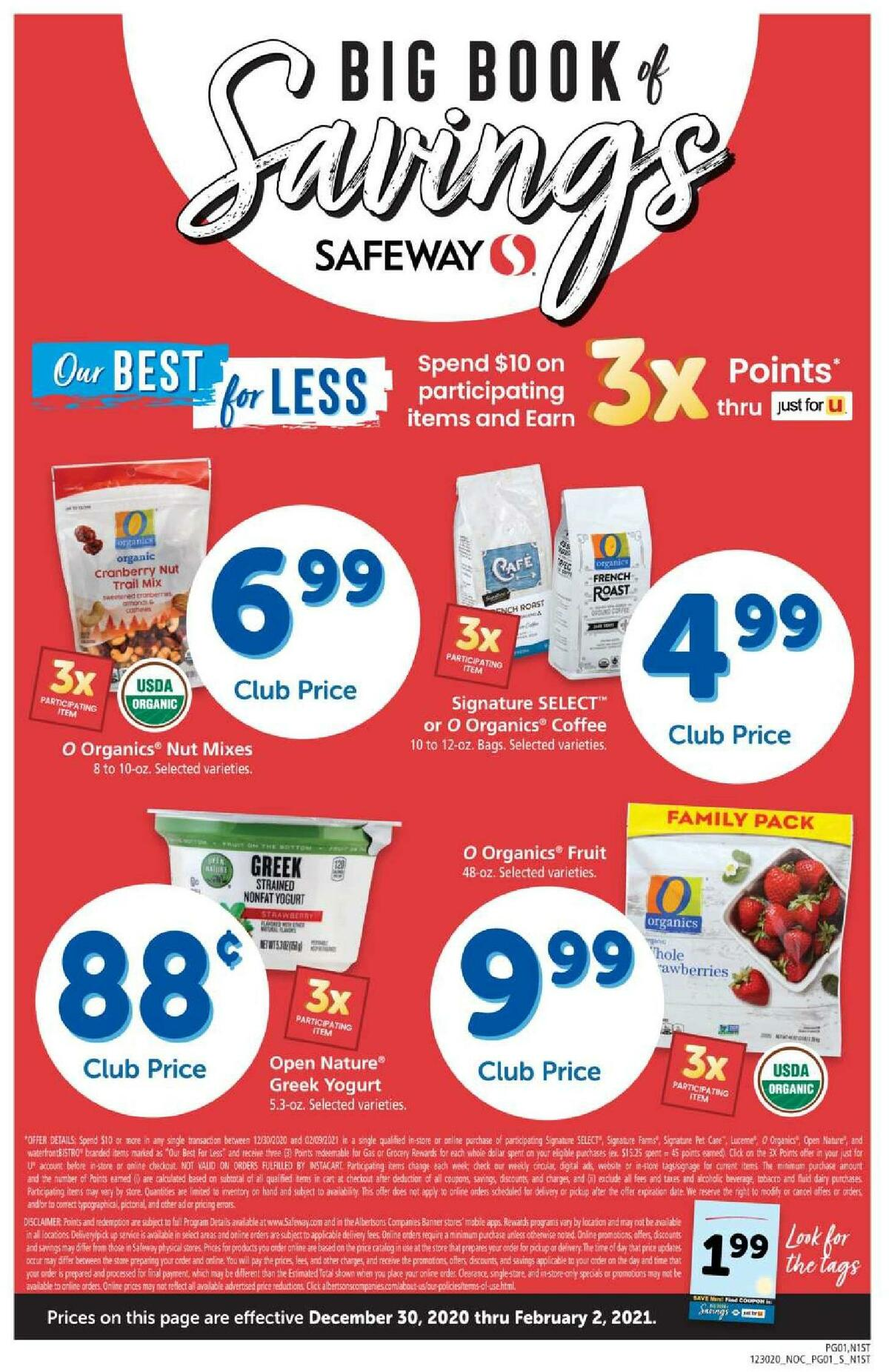 Safeway Big Book of Savings Weekly Ad from December 30