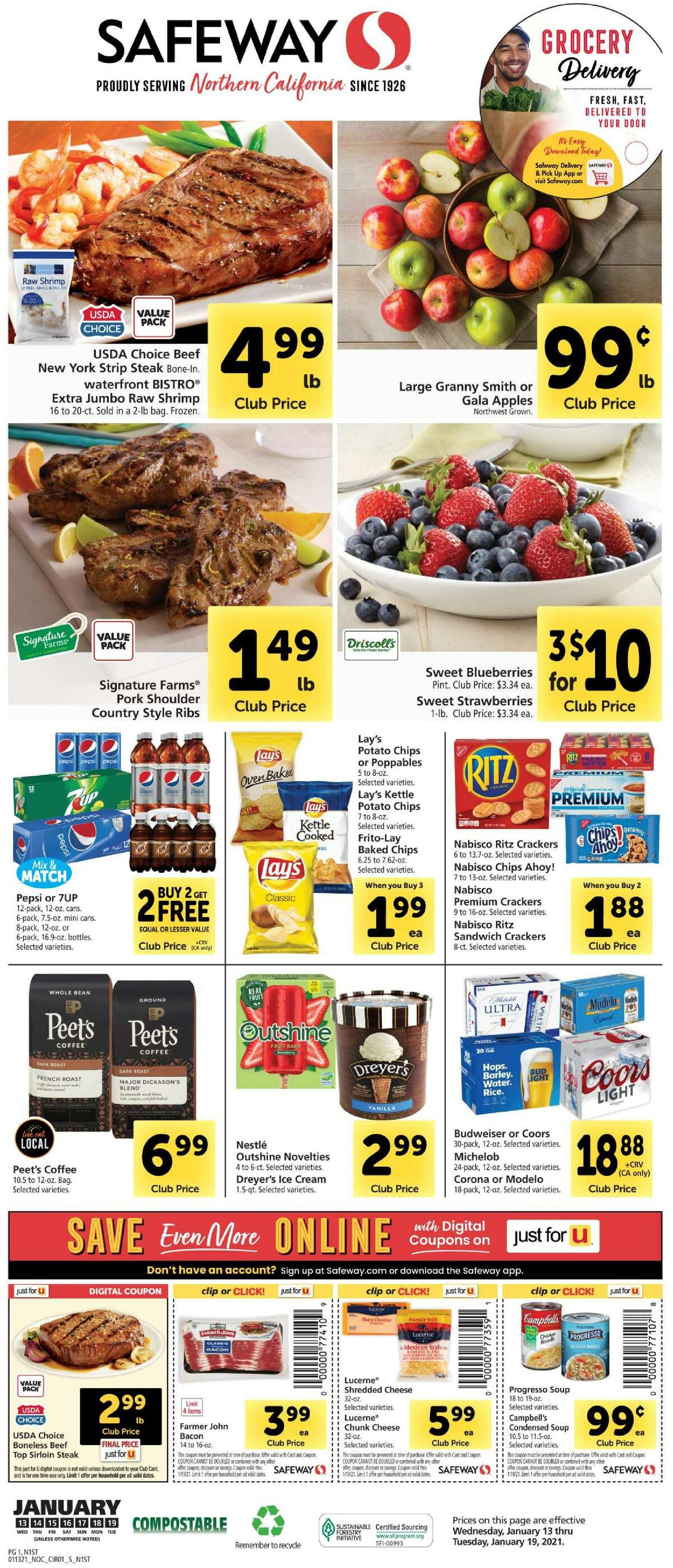 Safeway Weekly Ad from January 13