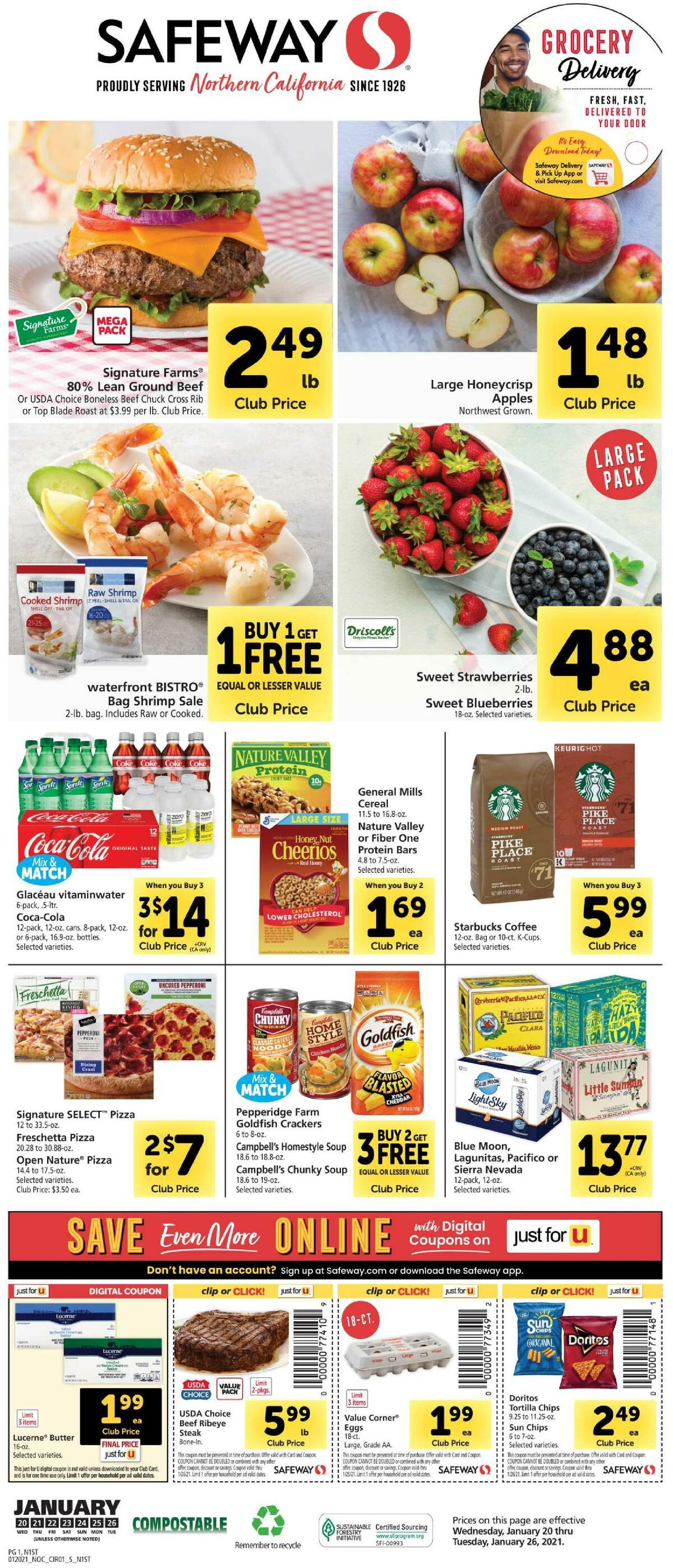 Safeway Weekly Ad from January 20