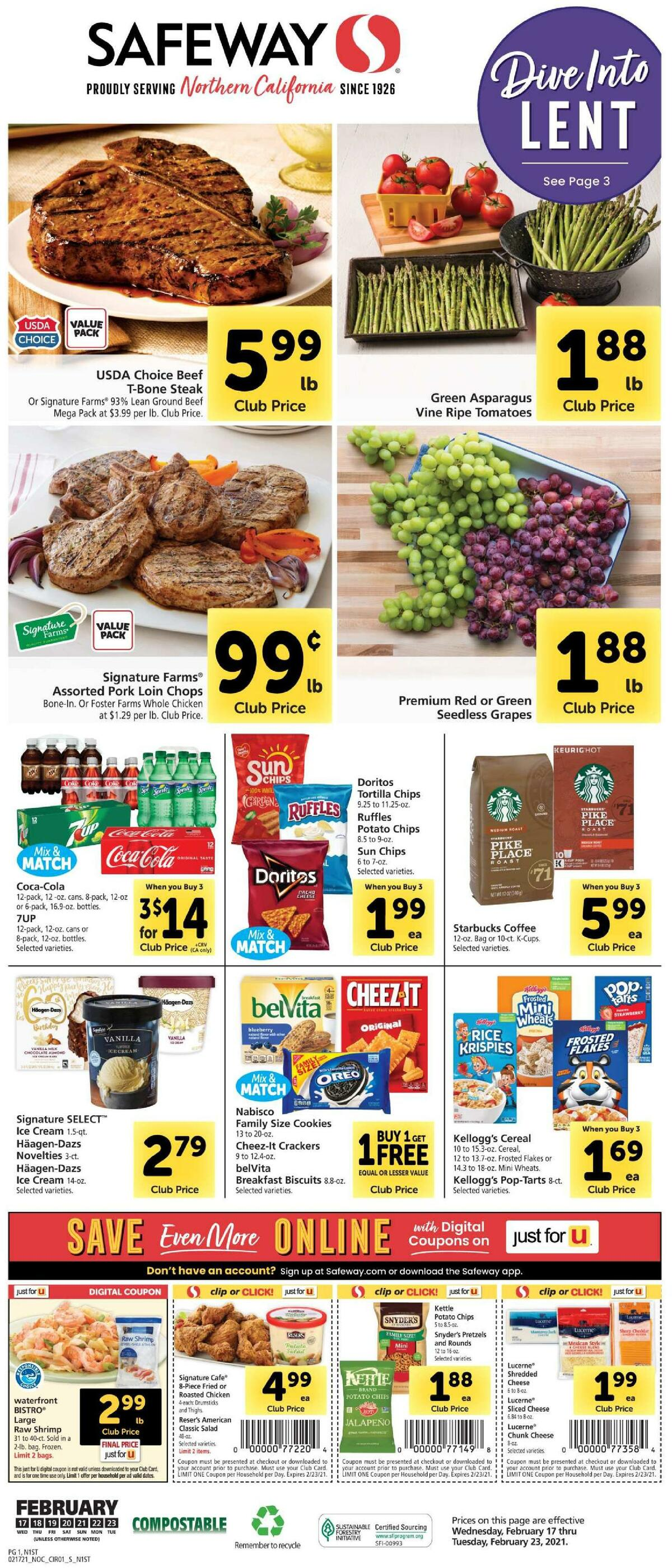Safeway Weekly Ad from February 17