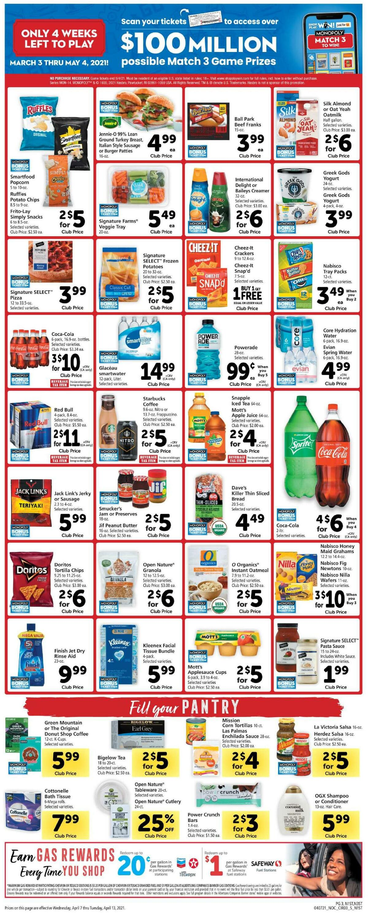Safeway Weekly Ad from April 7