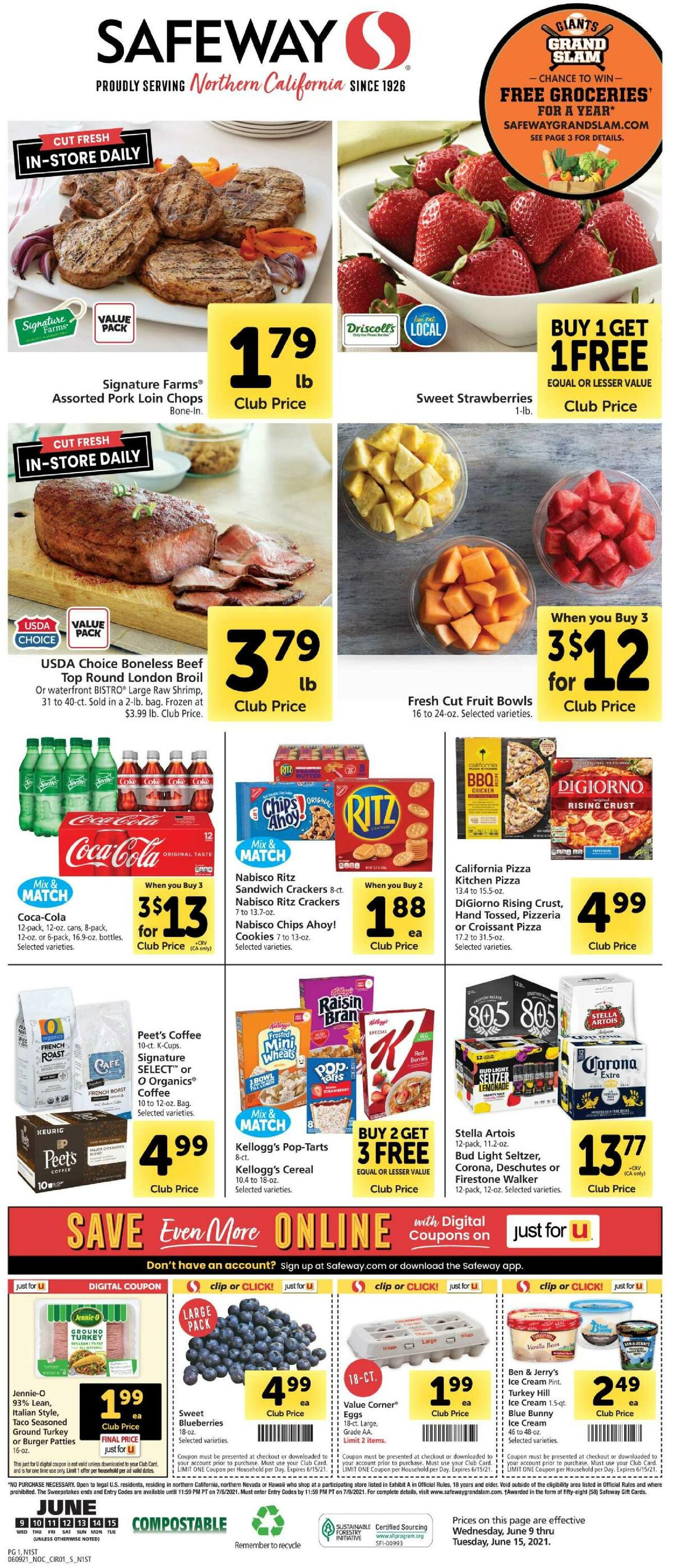 Safeway Weekly Ad from June 9