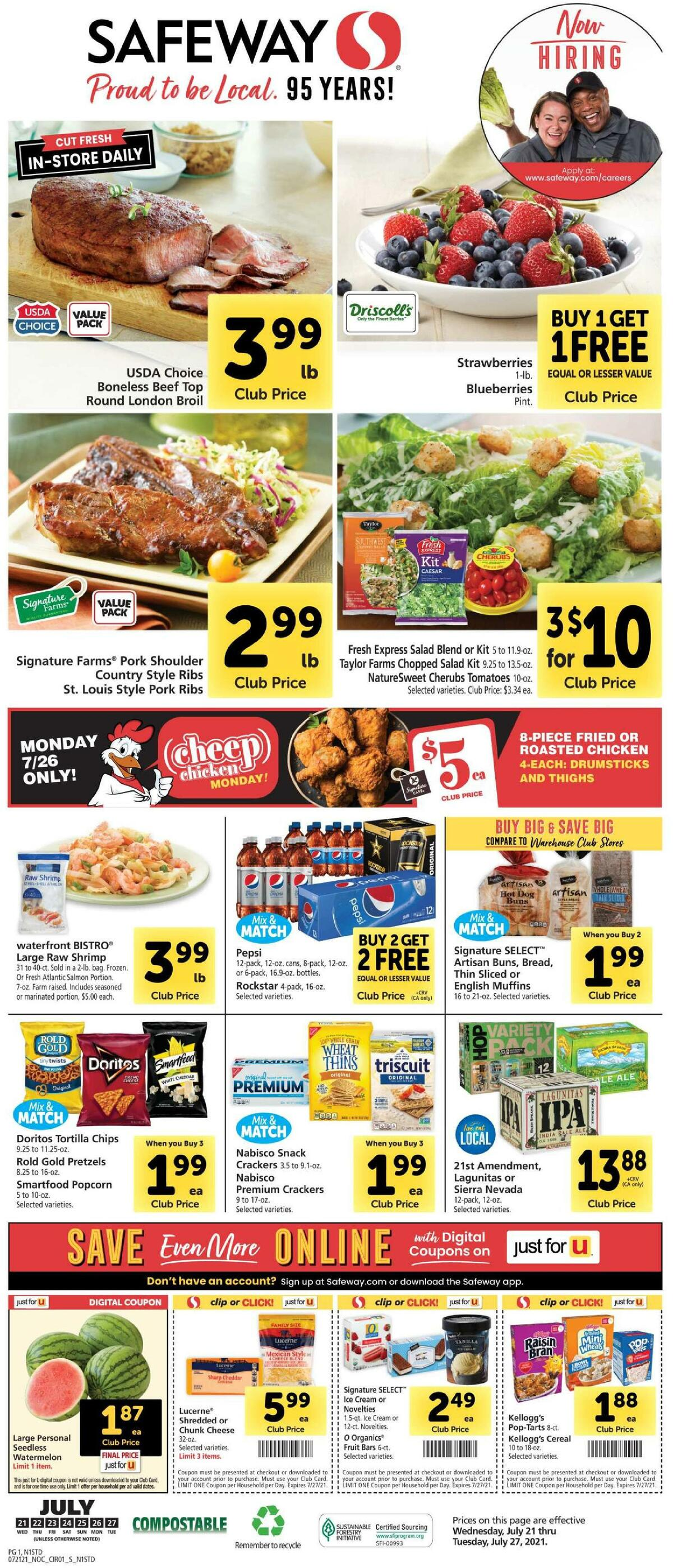 Safeway Weekly Ad from July 21