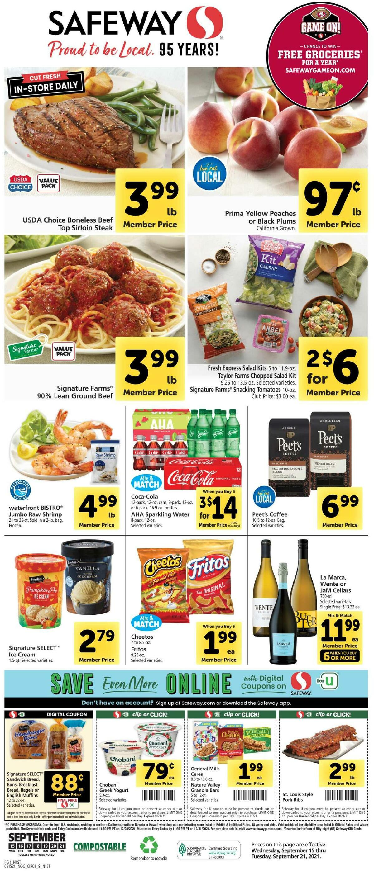 Safeway Weekly Ad from September 15