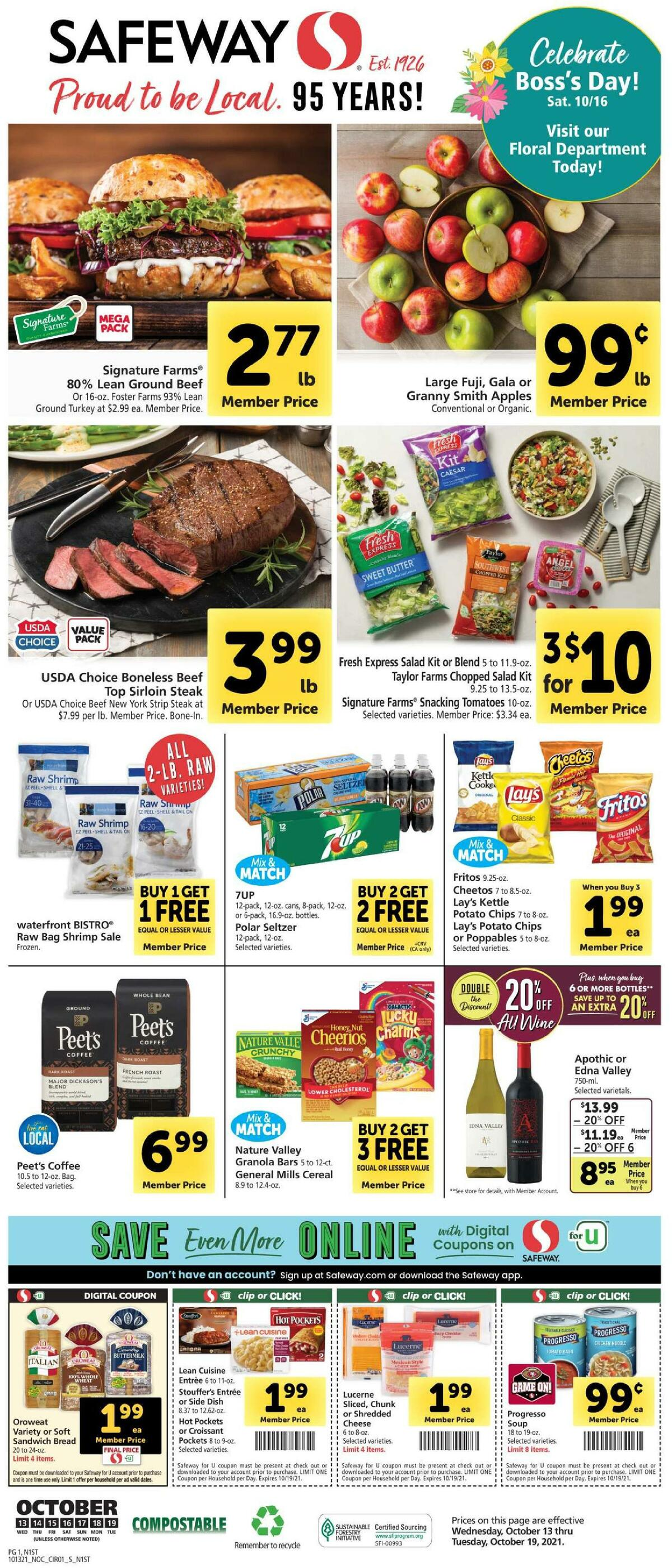 Safeway Weekly Ad from October 13