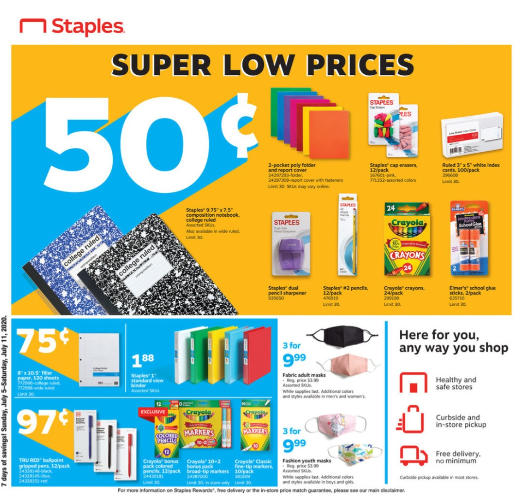 Staples Weekly Ad from July 5