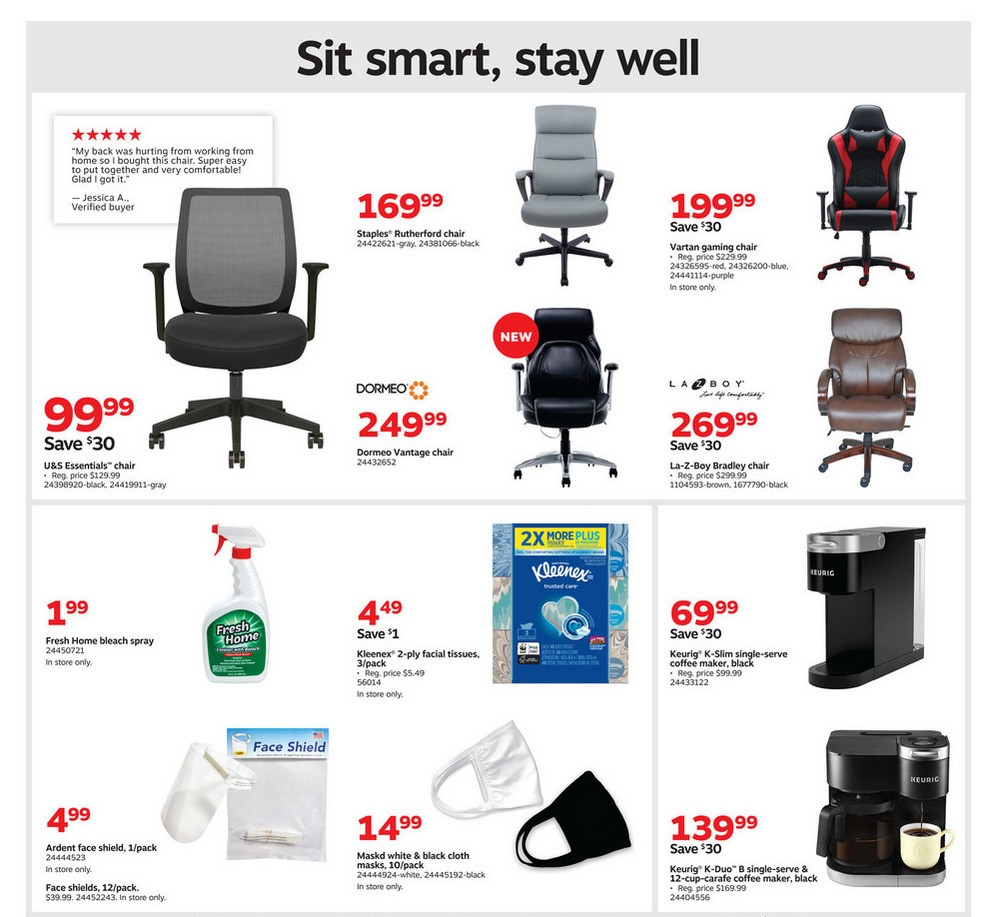 Staples Weekly Ad from October 11