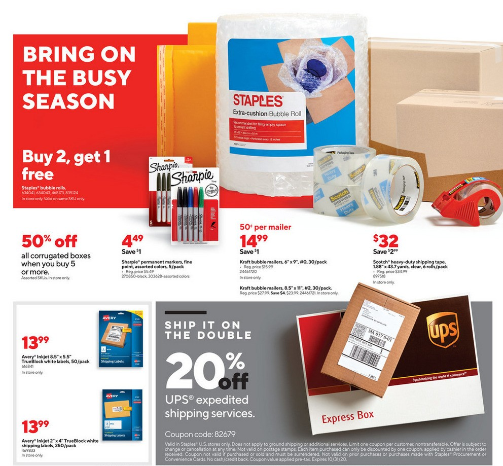 Staples Weekly Ad from October 18