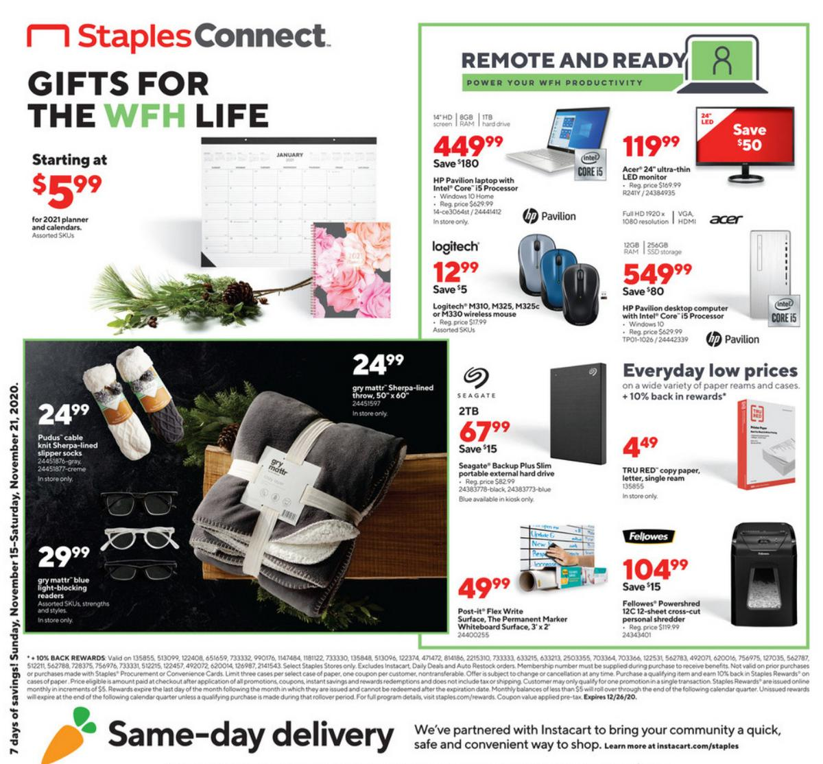 Staples Weekly Ad from November 15