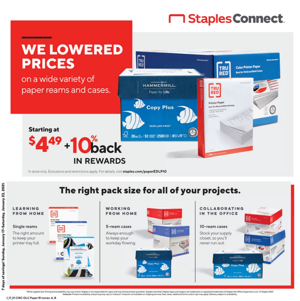 Staples Weekly Ad from January 17