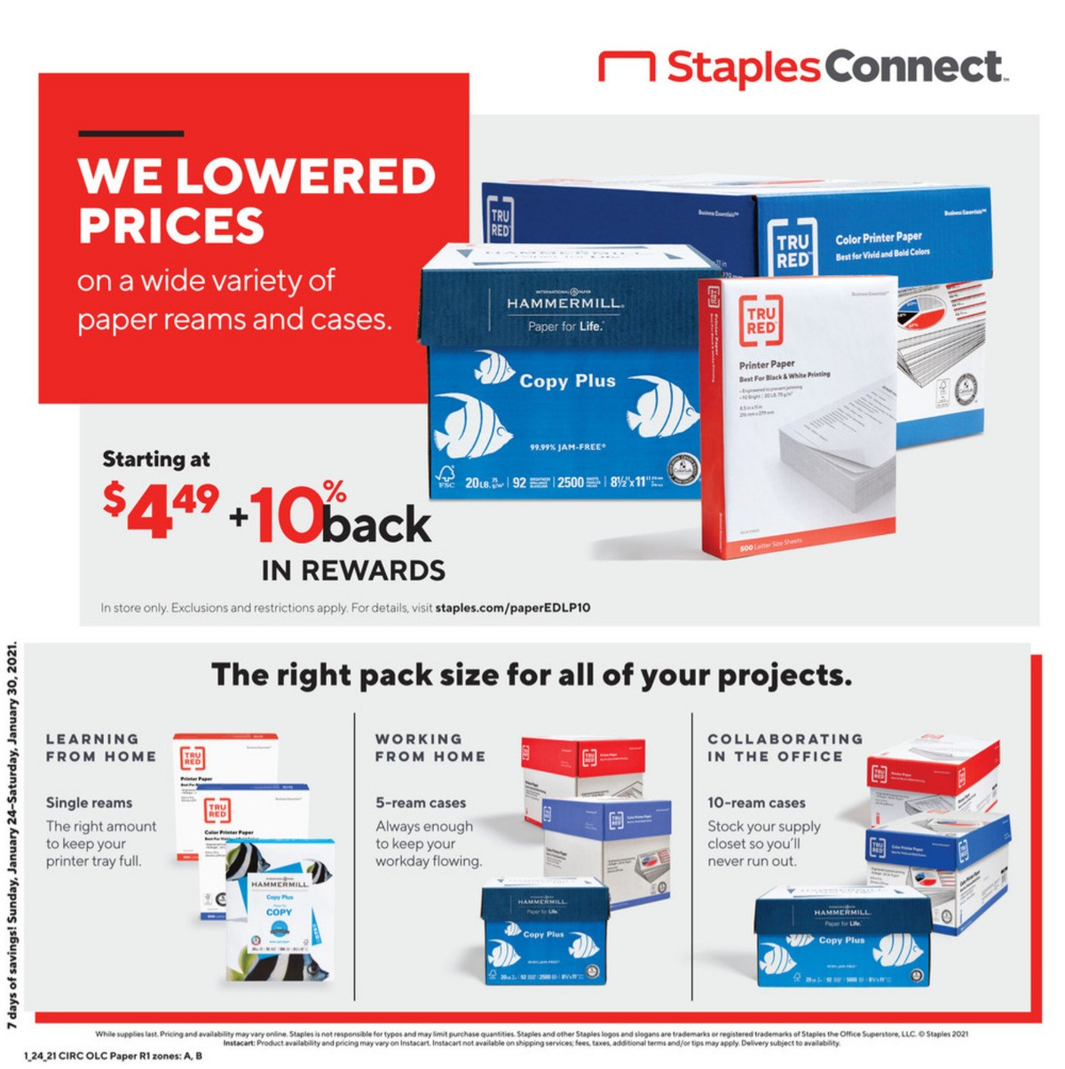 Staples Weekly Ad from January 24