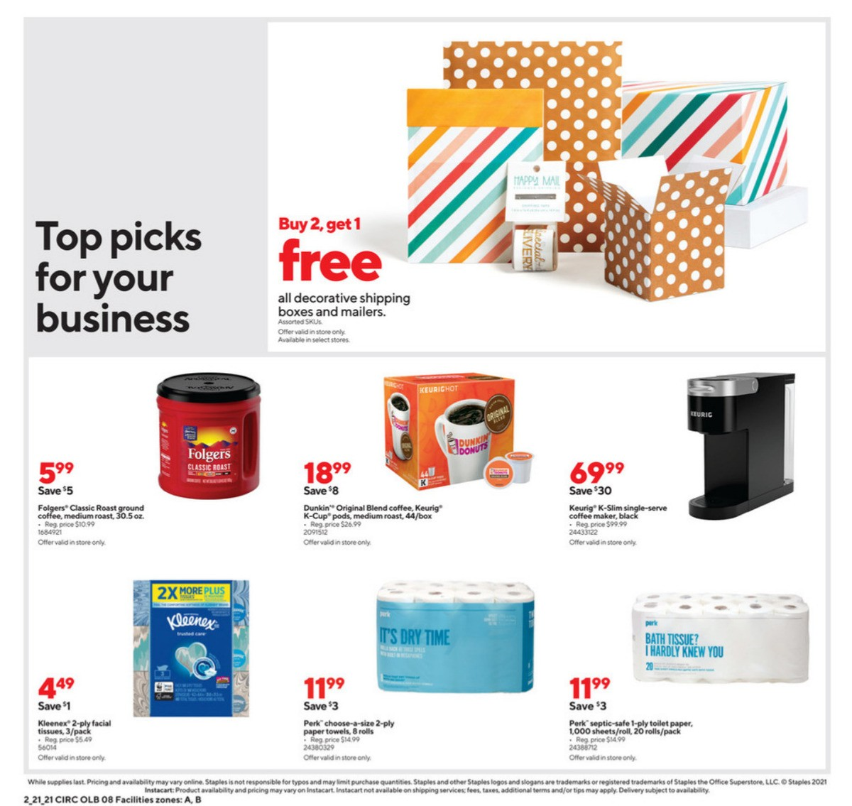 Staples Weekly Ad from February 21