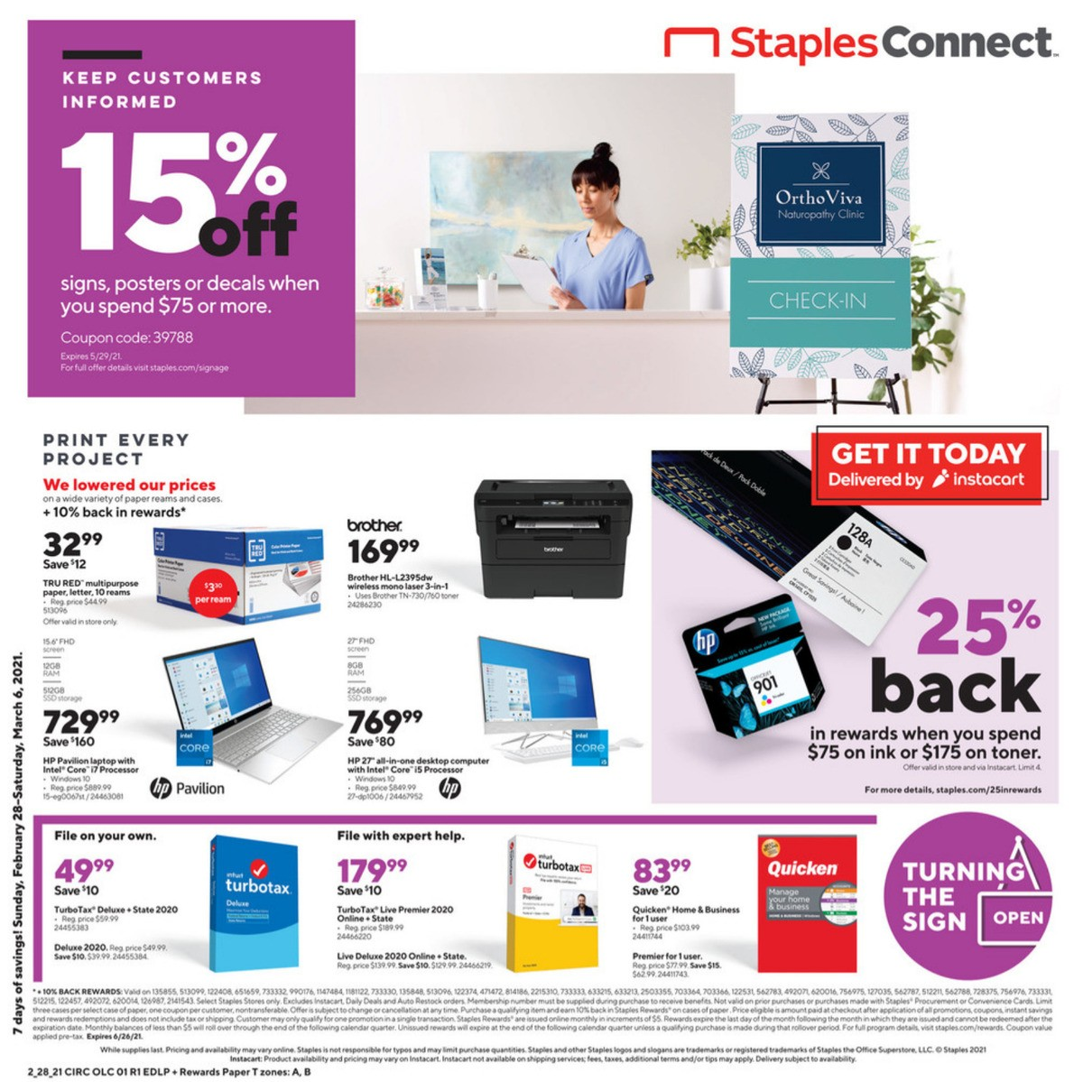 Staples Weekly Ad from February 28