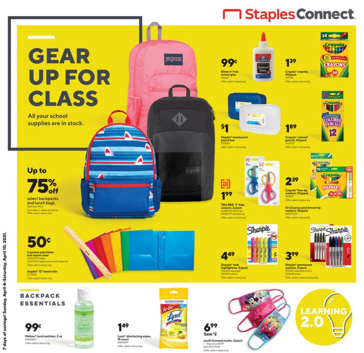 Staples Weekly Ad from April 4
