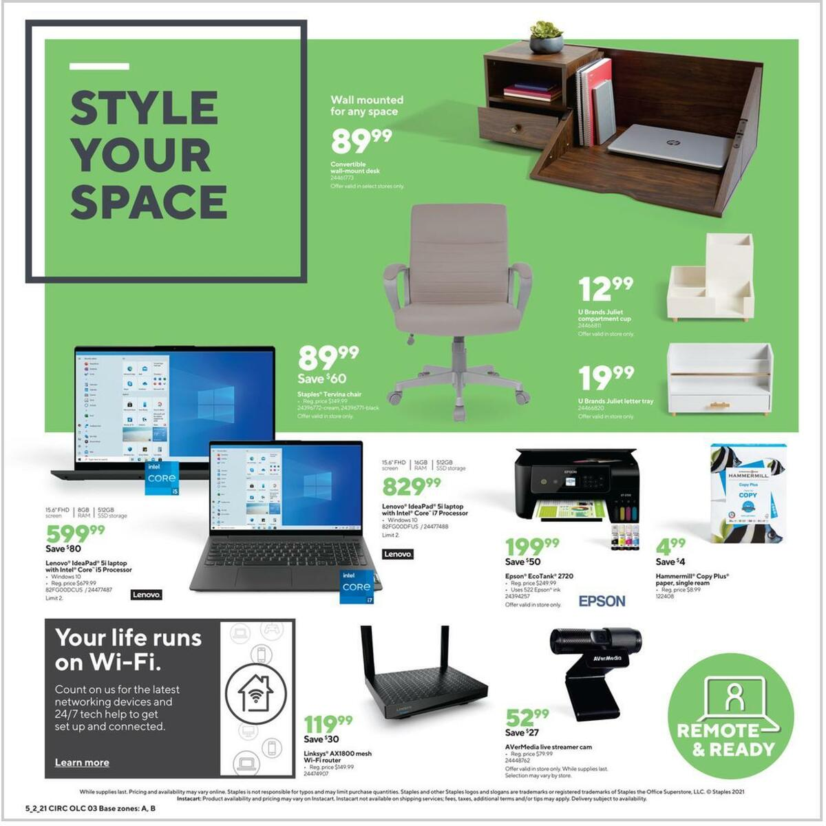 Staples Weekly Ad from May 2