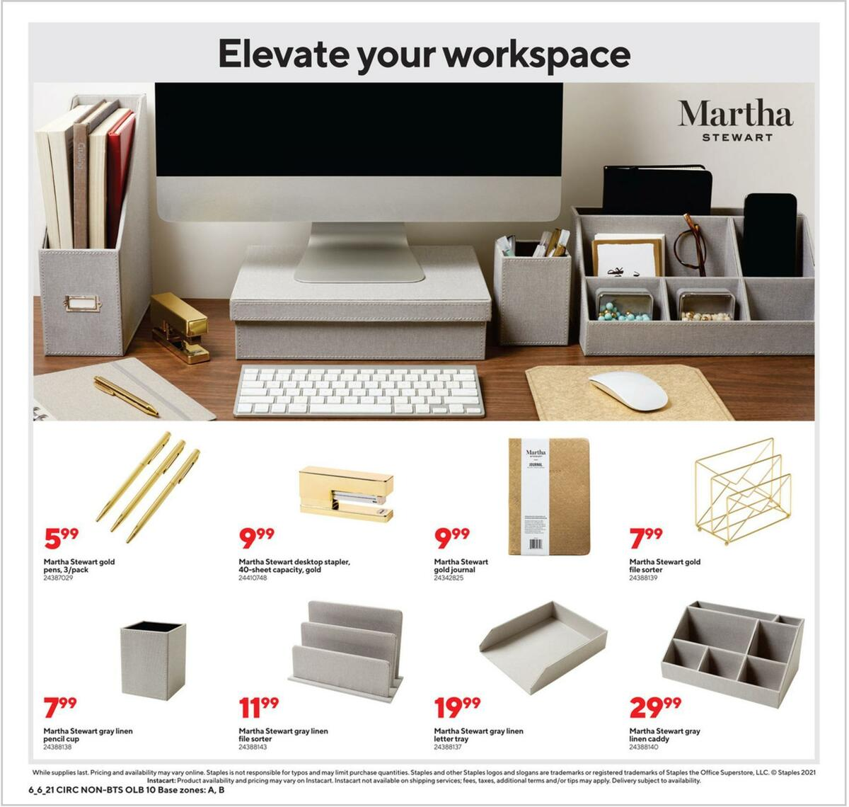 Staples Weekly Ad from June 6