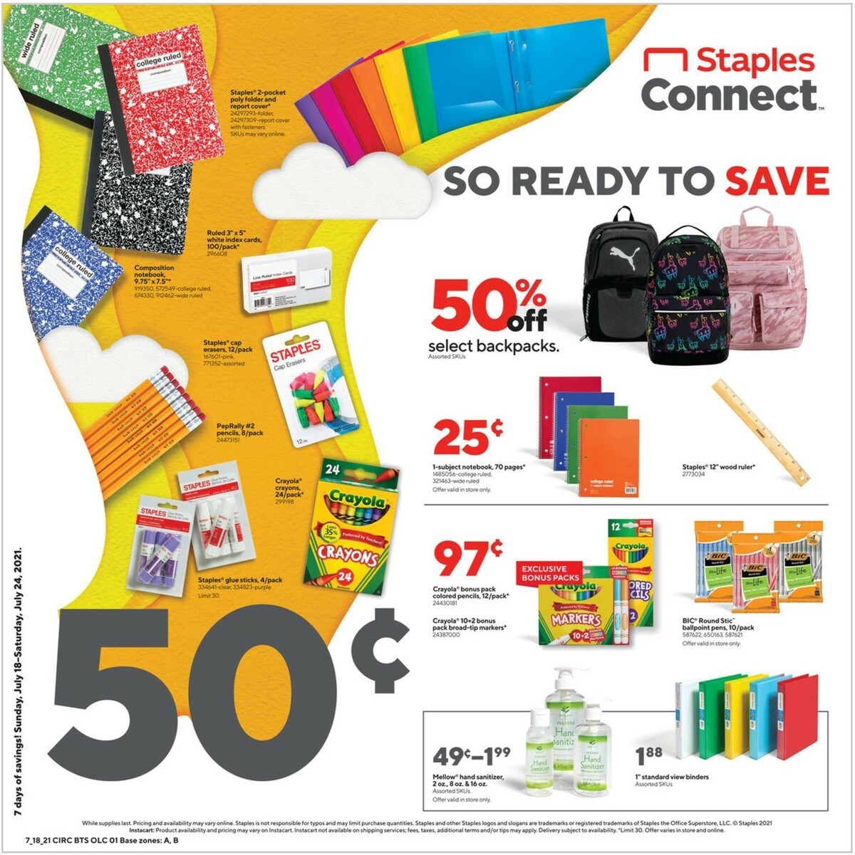 Staples Weekly Ad from July 18