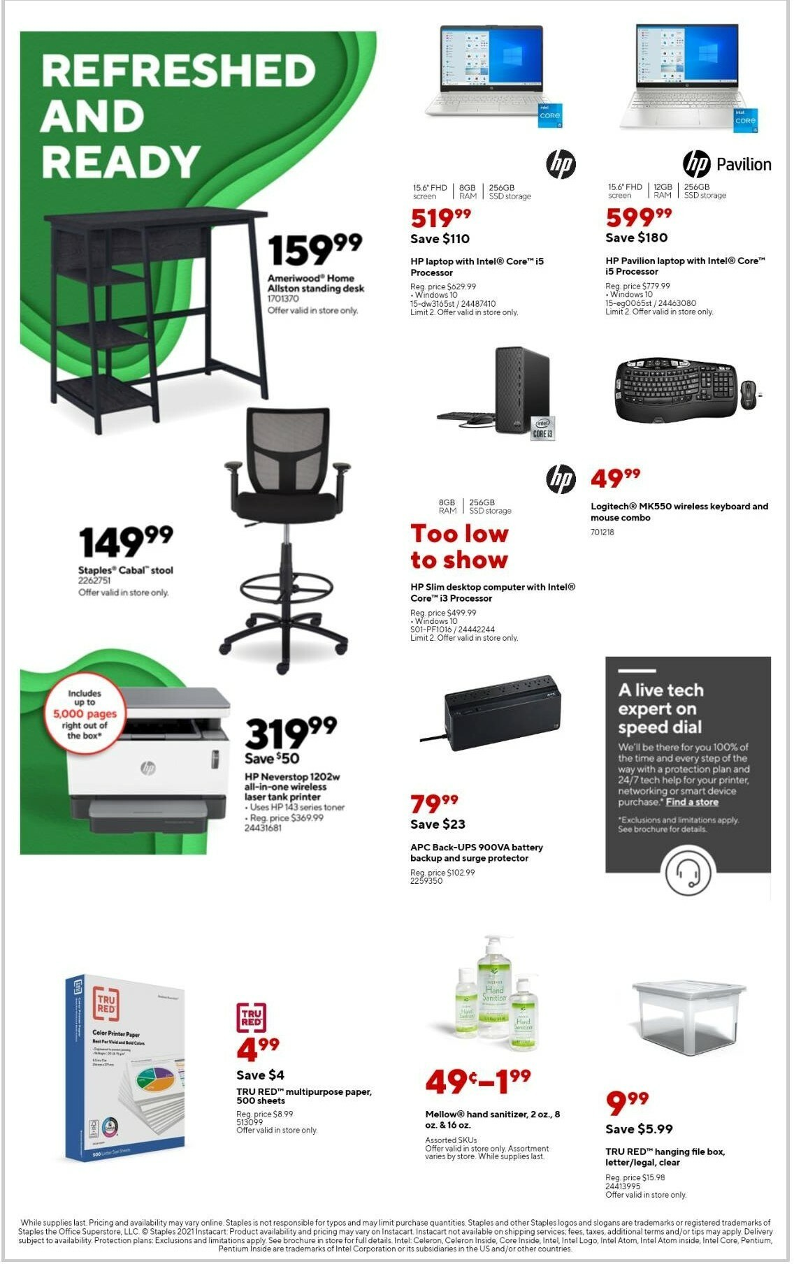 Staples Weekly Ad from September 12
